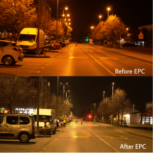 Before and after of the NEWLIGHT project.